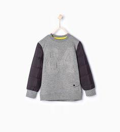 """ 84"" print sporty sweatshirt - Jogging - Boy | 4 - 14 years - KIDS | ZARA United Kingdom"