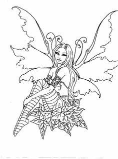 Fairy Coloring Pages For Adults | Enchanted Designs Fairy ...