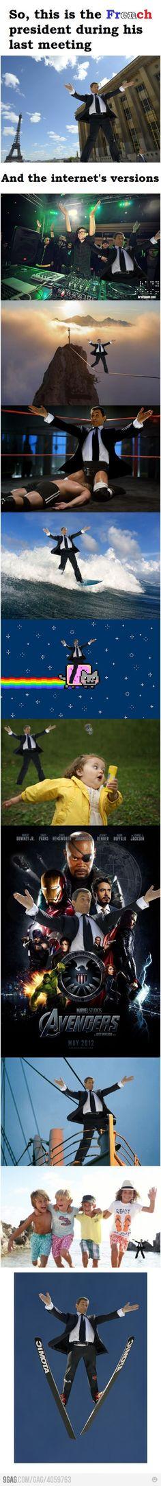 Un meme de Sarko, ça arrive trop peu souvent pour qu'on passe à côté !