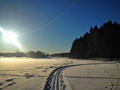 naturensdronning: Skitur i vakkert vintervær