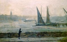 The Thames from Battersea Reach :: James Whistler