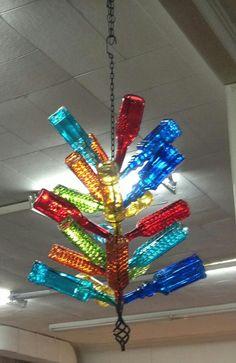 Bottle tree chandelier