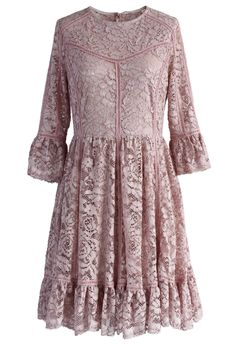 Haute in Lovely Pink Lace Dress