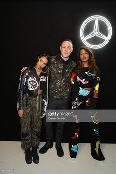 Tommy Genesis, Luke Gilford and M. A attend the Mercedes-Benz Chapter 1 launch party on March 2017 in London, United Kingdom. Tommy Genesis, London United, Launch Party, Event Photos, Mercedes Benz, United Kingdom, March, Product Launch, Punk