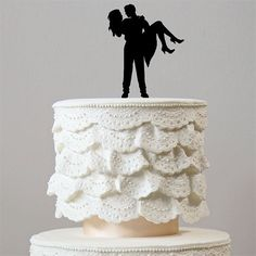 Romantic Wedding Cake Topper (Sweet Bridal Carry /Beautiful Bride Groom) – CHARMERRY