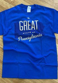 Pennsylvania Blue The Great State Of Short Sleeve T Shirt - 8090271 Temporary Store, Keystone State, Pitt Panthers, Short Sleeve Tee, Pennsylvania, Pittsburgh, Organization, Tees, Sleeves
