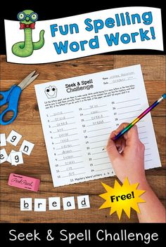 Seek & Spell Challenge is a fun spelling word game that your kids will beg to play! As kids hunt for the mystery word in each set of letters, they try to find and spell as many smaller words as possible. Learn more and download a mystery word freebie from Laura Candler's blog to try at home or at school. #spelling #spellinggame #wordwork #wordgame #homeschoolactivities #spellingactivity #freespellinggame #funspellingtame Spelling Word Games, Spelling Help, Word Work Games, Word Work Activities, Spelling Activities, Teaching Reading, Teaching Kids, Teaching Resources, Elementary Teaching