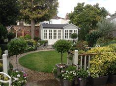 The Summerhouse and Garden. Garden Studio, Backyard, Patio, Dream Garden, Sidewalk, Outdoor Decor, Home Decor, Decoration Home, Terrace