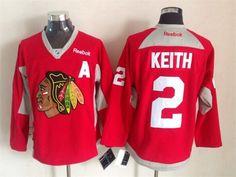 Reebok NHL Chicago Blackhawks 2 Duncan Keith Home Red Hockey Jersey