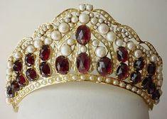 Sterling garnet and pearl tiara                                                                                                                                                                                 More