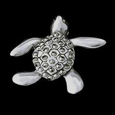 Pingente de prata 925 tartaruga com pedrinhas de marcassita