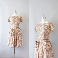 1960s silk dress / vintage 60s GiGi Young dress / by Coralroot, $88.00