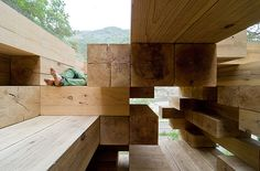 Final Wooden House Kumamura village Japan by Sou Fujimoto Architects.   Photography Iwan Baan.