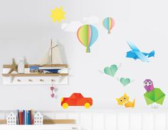 Awesome origami wall decal. $42.00, via Etsy.