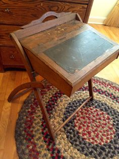 old portable writing desk