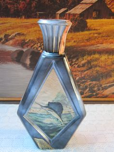 Vintage Jim Beam Kentucky Straight Bourbon Whiskey Decanter Bottle * Sailfish Edition by James Lockhart by RainbowConnection15 on Etsy
