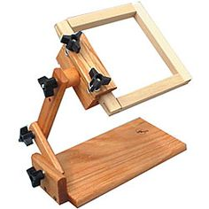 Z Lap Frame With Clamp For Frames and Scrolls To at discount prices. Take a look at our quality selection of Z Lap Frame With Clamp For Frames and Scrolls To Needlework Shops, Frame Stand, Hand Embroidery Designs, Diy Embroidery Stand, Golden Oak, Solid Oak, Pedestal, Wood Projects, Sewing Crafts
