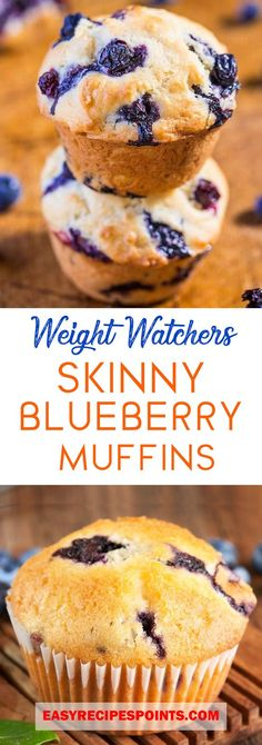 5 pt blueberry muffin 1 c flour 2 t b. t salt 1 egg c sugar c almond milk c oil c yogurt 1 t vanilla 1 c blueberries tossed in 2 T flour 11 muffins bake 25 min Weight Watcher Desserts, Weight Watchers Snacks, Weight Watcher Muffins, Weight Watchers Breakfast, Weight Watcher Dinners, Weight Watchers Free, Weight Watchers Blueberry Muffins Recipe, Weight Watchers Bread Recipe, Skinny Blueberry Muffins