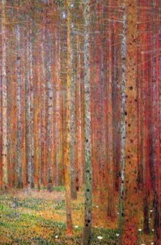 Gustav Klimt - pine forest