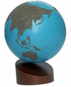 Sandpaper Globe Land & Water