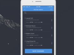 Talent Scout - Active users - iPhone 6 app by Robert Berki Save Changes, Iphone 6, App, Design, Apps