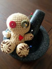 Meet my new form of Anger Management :) The cutest voodoo doll, I have seen. I really enjoyed making it.