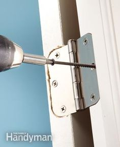 Fix tight doors by tightening hinges and jambs—sanding is a last resort. Handyman Projects, Diy Home Repair, Home Repairs, Reno, Diy Home Improvement, Exterior Doors, Decorating Blogs, Home Buying, Home Projects