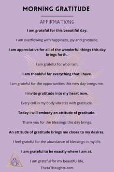 Positive Affirmations Quotes, Self Love Affirmations, Affirmation Quotes, Miracle Morning Affirmations, Affirmations For Women, Gratitude Quotes Thankful, Grateful Quotes, Attitude Of Gratitude, Grateful Heart
