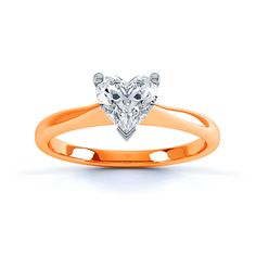 Copper orange Gold Diamond ring - someday this would be fun (when they actually make it)