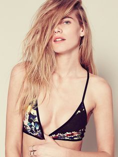 Intimately Printed Triangle Bra at Free People Clothing Boutique