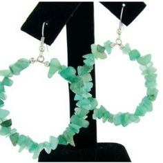 Genuine Semi-Precious Peridot Hoop Earrings www.silvermoonbay.net #semipreciousstone #peridot #affordablejewelry #hoopearrings #giftideas