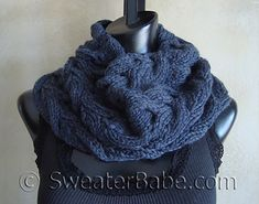 Ravelry: #103 Luscious Cabled Cowl pattern by SweaterBabe