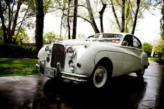 We had two Jaguars for our bridal party - love these beautiful cars xx    Wedding Transportation Ideas With Bridal Car Photography Inspiration