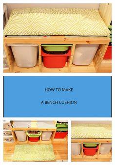 diy bench cushion lego table