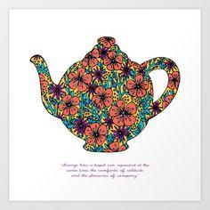 Teapot Warmth Art Print by Lina Elyse Patton