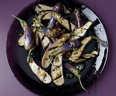 Grilled Fairy Tale Eggplant with Rosemary Garlic Oil -- Throw these sweet little eggplant on the grill alongside steak or lamb for an easy, summery side dish. -- August / September Issue 130 - Page 12