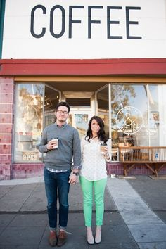 Quirky Coffee Shop Engagement Shoot by Limelife Photography