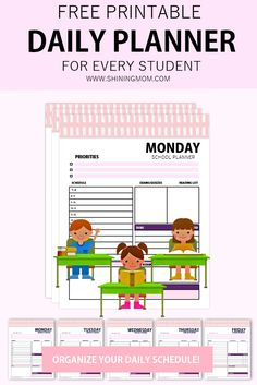 This is a very useful daily school planner for students! Whether you are online learning, homeschooling or this planner can help save the day! #freeplanner #school #student #freeprintables #backtoschool
