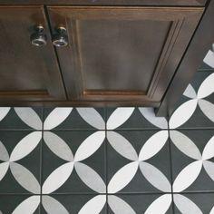 "Forties 7.75"" x 7.75"" Ceramic Field Tile in Gray"