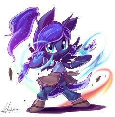 my little pony,Мой маленький пони,фэндомы,mlp art,Princess Luna,принцесса Луна,royal,crossover,avatar the last airbender