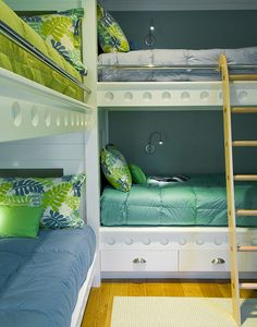 Dual Bunks...for adults...great idea for the bunk room at the ski condo!