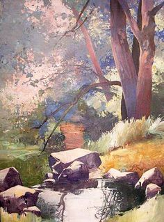 Randall David Tipton  oil on canvas 48x36. I love the serenity of this scene!