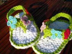 sandalias tejidas a crochet para bebe - Buscar con Google