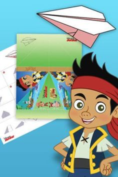 Disney Junior Printable Paper Airplane Templates | SKGaleana