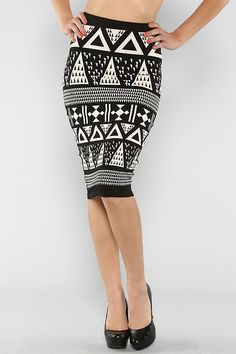 Aztec Fitted Skirt