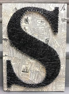Initial from nails and string- so cool!- maybe for a future pinterest party @tracey