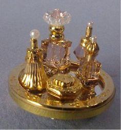 Dollhouse Perfume Trays from FINGERTIP FANTASIES Dollhouse Miniatures