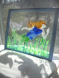 Beach Glass Art   filed under news tagged with beach glass beach glass art boston artist