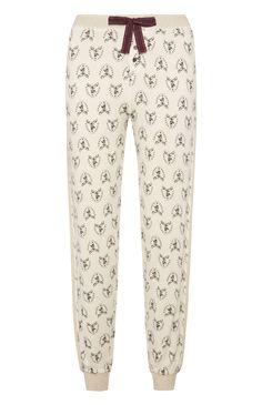 Pyjamabroek met hertendessin