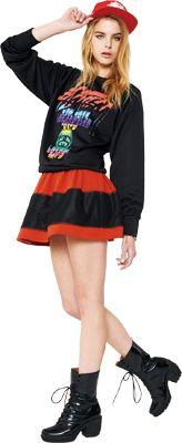 Stussy Letterring Snapback Ballcap, Big Big Crew, 2tone SS Skirt & Multi Color Disc Bracelet #stussyjapan #spring2013